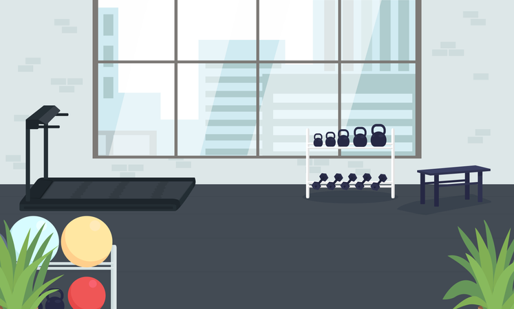 Corporate gym Illustration