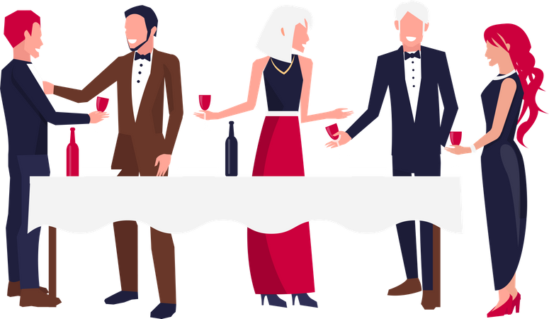 Corporate Party for Team Building Illustration