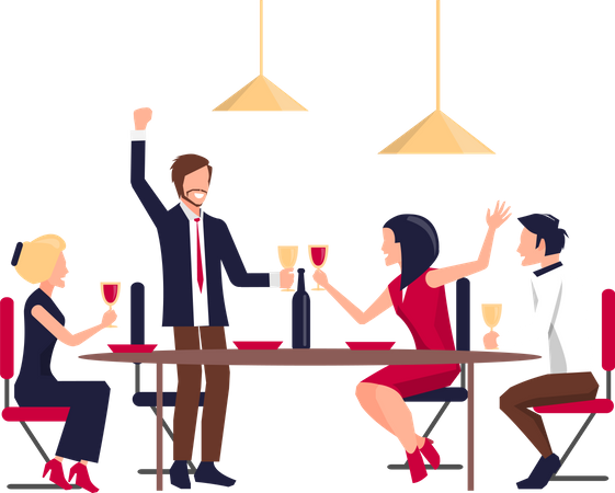 Corporate Party of Workers Illustration