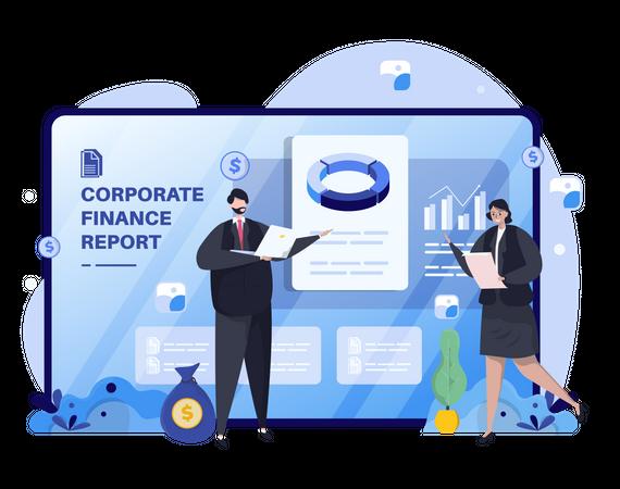 Corporate report presentation Illustration