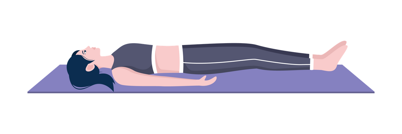 Corpse pose Illustration