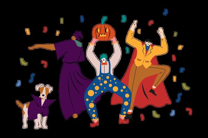 Costume Party Illustration
