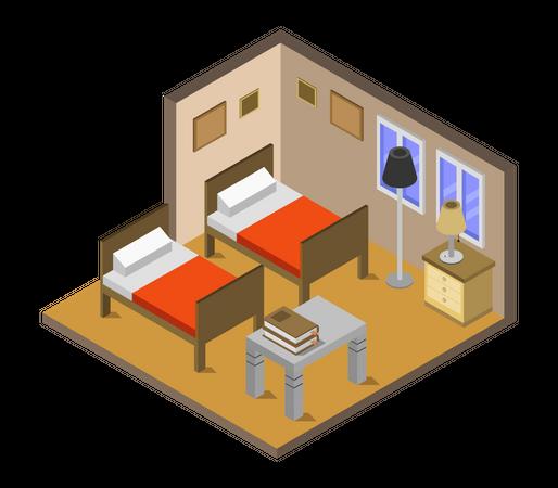 Cottage room Illustration