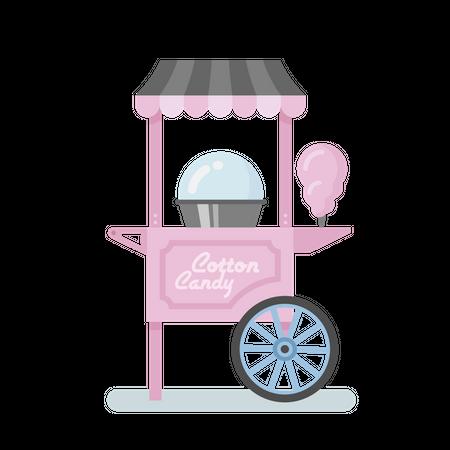 Cotton candy machine Illustration
