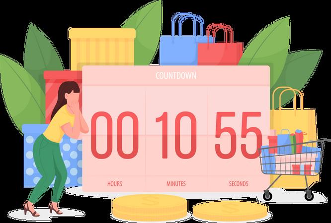 Countdown to Black friday Illustration