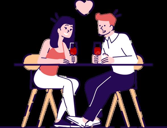 Couple date Illustration
