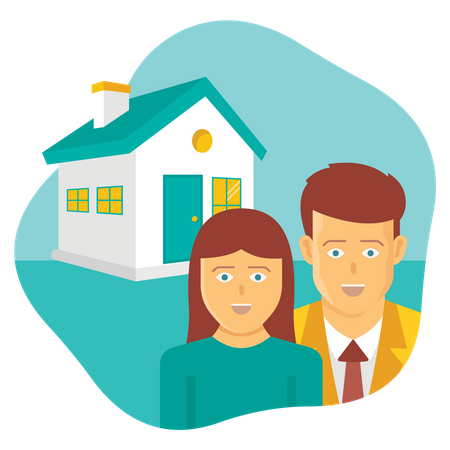 Couple house Illustration