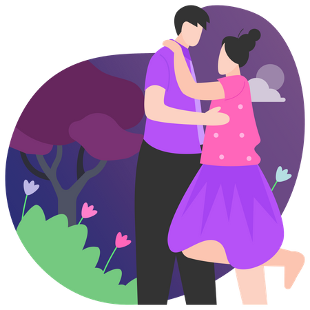 Couple Love Illustration