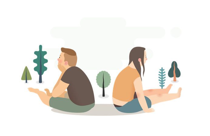 Couple misunderstanding Illustration