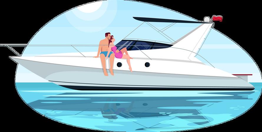 Couple on voyage Illustration