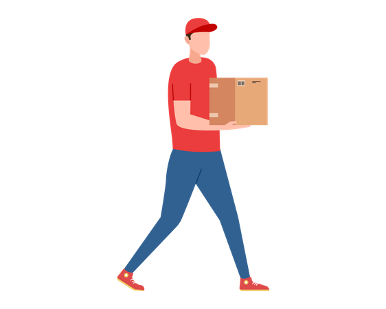 Courier delivery Illustration