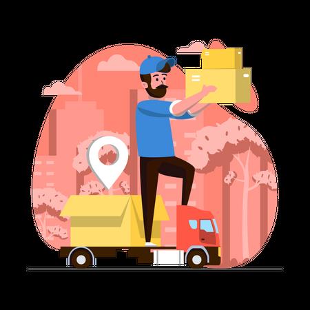 Courier Service Illustration