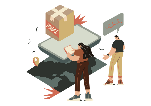 Courier tracking Illustration