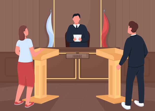Courthouse procedure Illustration