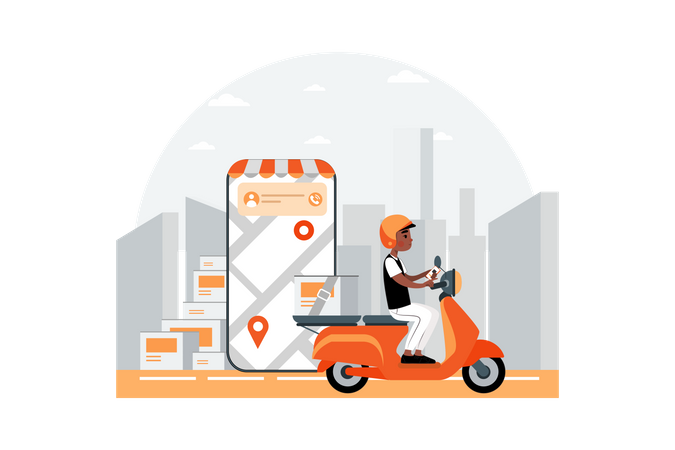 Courtier tracking app Illustration