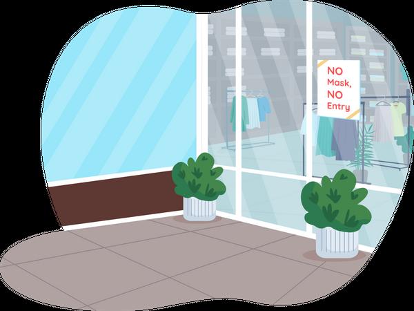 Covid-19 shops rules Illustration