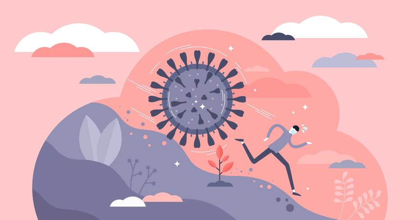 Covid-19 virus attack Illustration