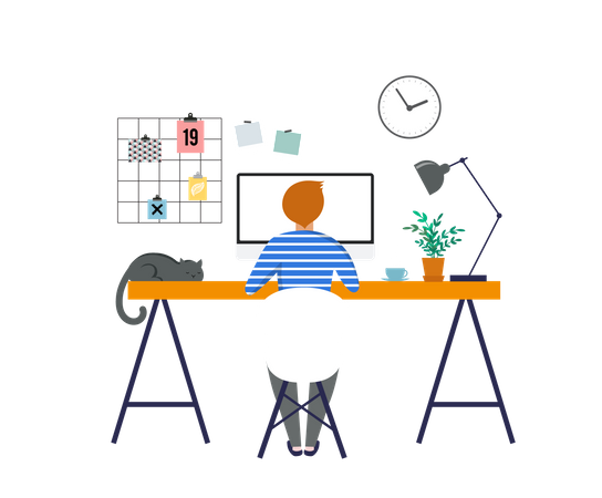 Coworking space Illustration