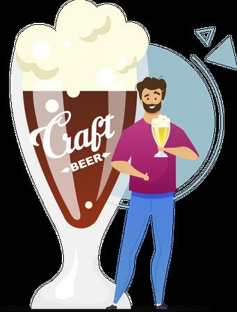 Craft beer consumer Illustration