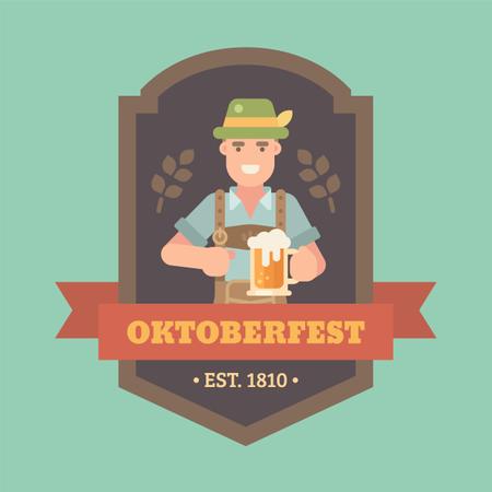 Craft beer festival banner Illustration