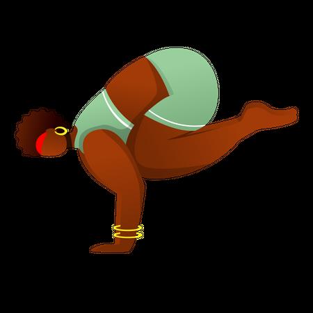 Crane Pose Illustration