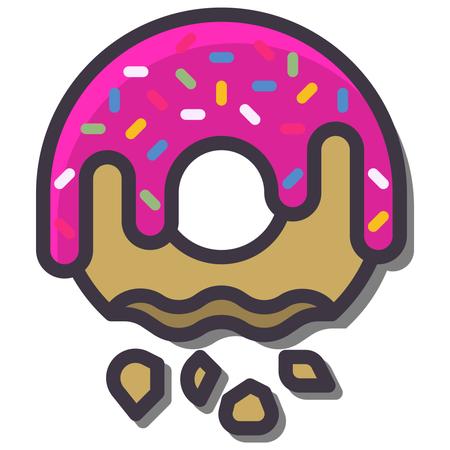 Cream Donut Illustration