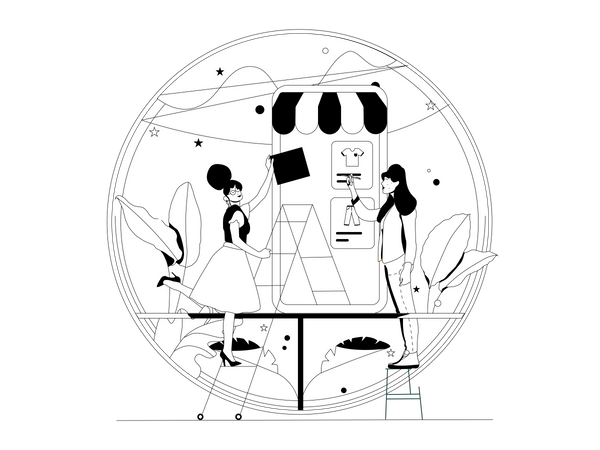 Create store Illustration