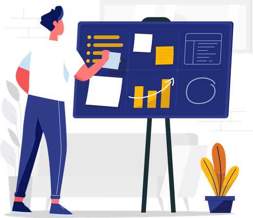 Create work plan Illustration