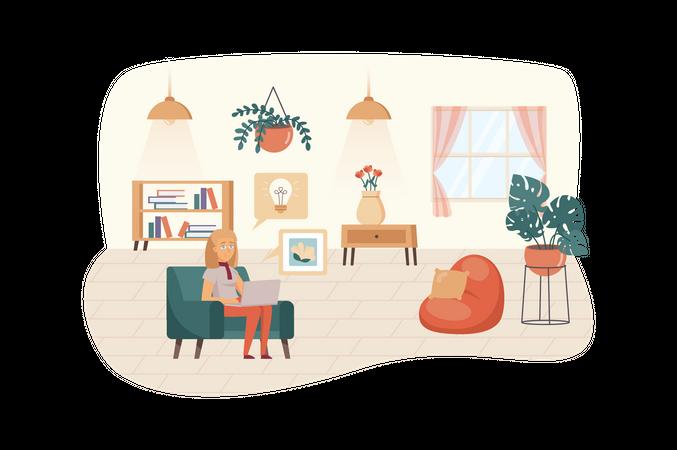 Creates new ideas, making digital product Illustration