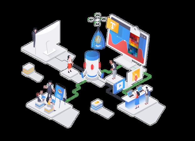 Creative design workshop Illustration