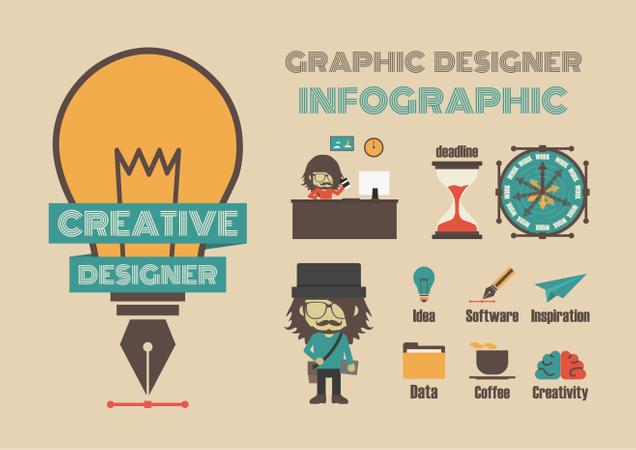 Creative Designer Infographic Illustration