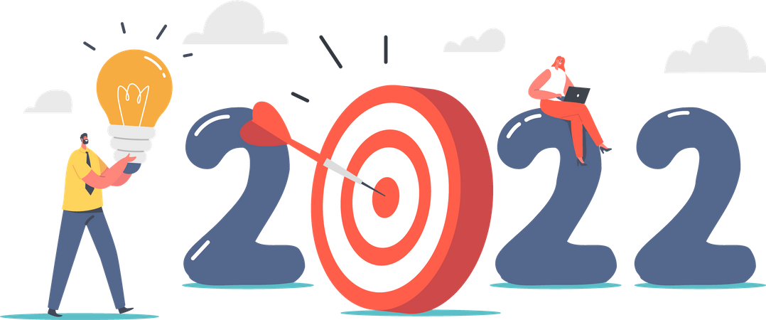 Creative Idea and Business Plan for new year Illustration