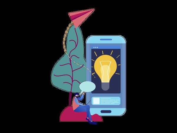 Creative support innovation Illustration
