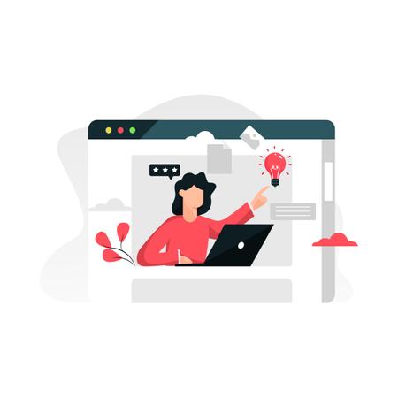 Creative website development Illustration