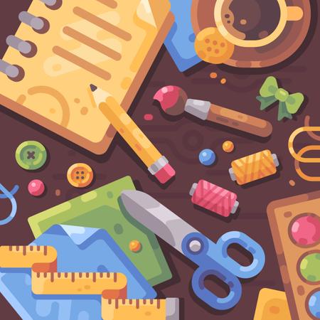 Creative workplac Illustration