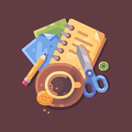 Creative workplace concept Illustration
