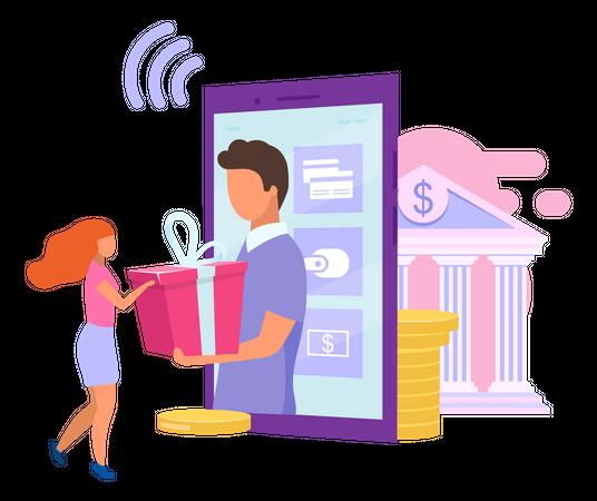 Credit card cashback offer Illustration