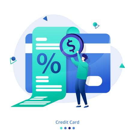 Credit card interest Illustration