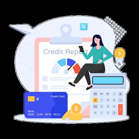 Credit Report Illustration