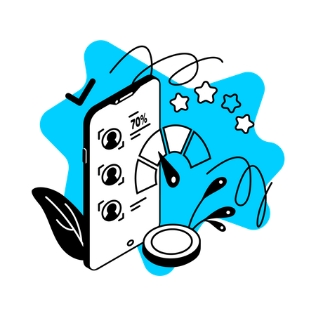 Credit score app Illustration