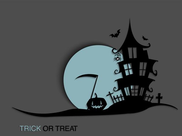 Creepy house Illustration
