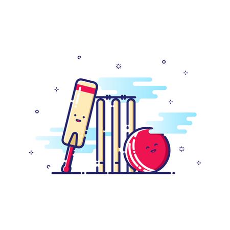 Cricket Sport Illustration