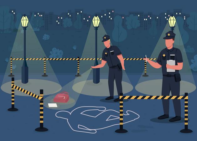 Crime investigation Illustration