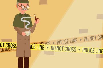 Detective Vector Illustration Pack