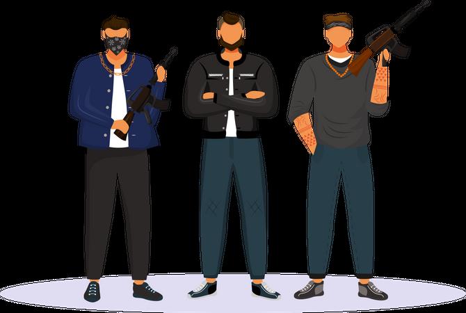 Criminal gang Illustration