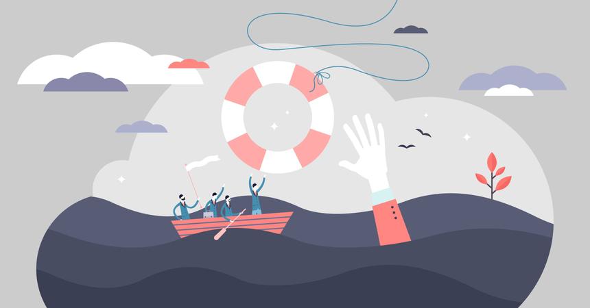Crisis help Illustration