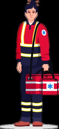 Critical help doctor Illustration