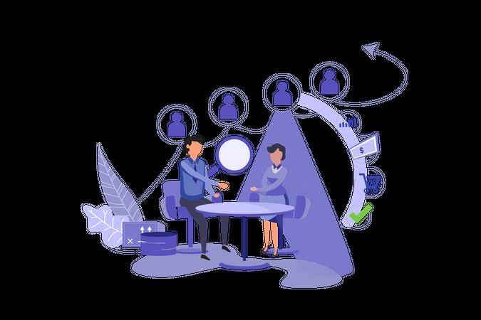 CRM Marketing Illustration