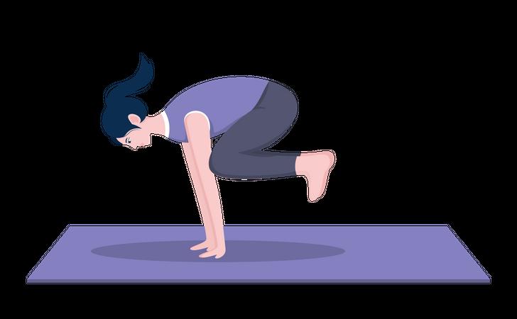 Crow pose Illustration