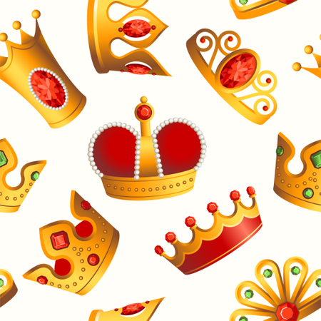 Crowns Pattern Illustration